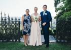 Rednerin Diana mit Brautpaar in Buttrio