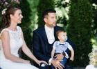 Das glückliche Braut- und Elternpaar