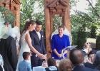 Die Sandzeremonie von Braut und Bräutigam