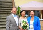 Dr. Albu-Lisson mit Brautpaar
