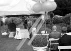 Rednerin Albu-Lisson und Bräutigam warten auf den Einzug der Braut