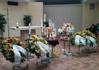 Urnenaufbahrung in der Halle