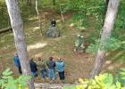 Trauerzeremonie im Urnenwald Ternitz